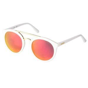 NWOT Guess Kara Red Mirror Lens White Sunglasses